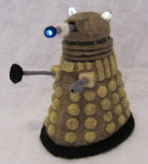 Light-Up Needle-Felted Dalek by GlassCamel