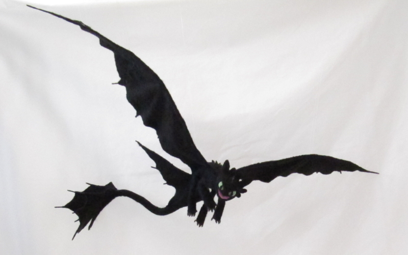how to make toothless wings
