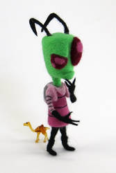 Needle-Felted Zim by GlassCamel