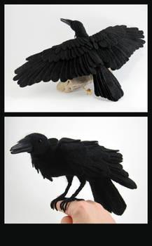 Needle-Felted Raven