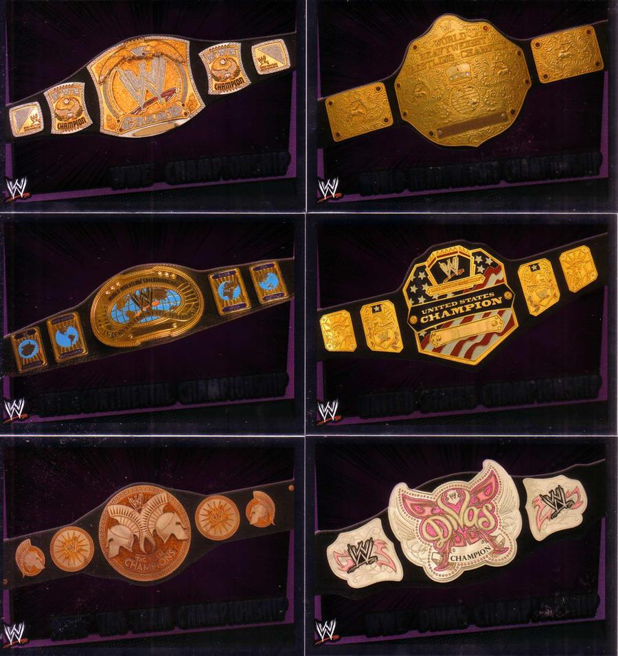 WWE TITLES by imranbecks