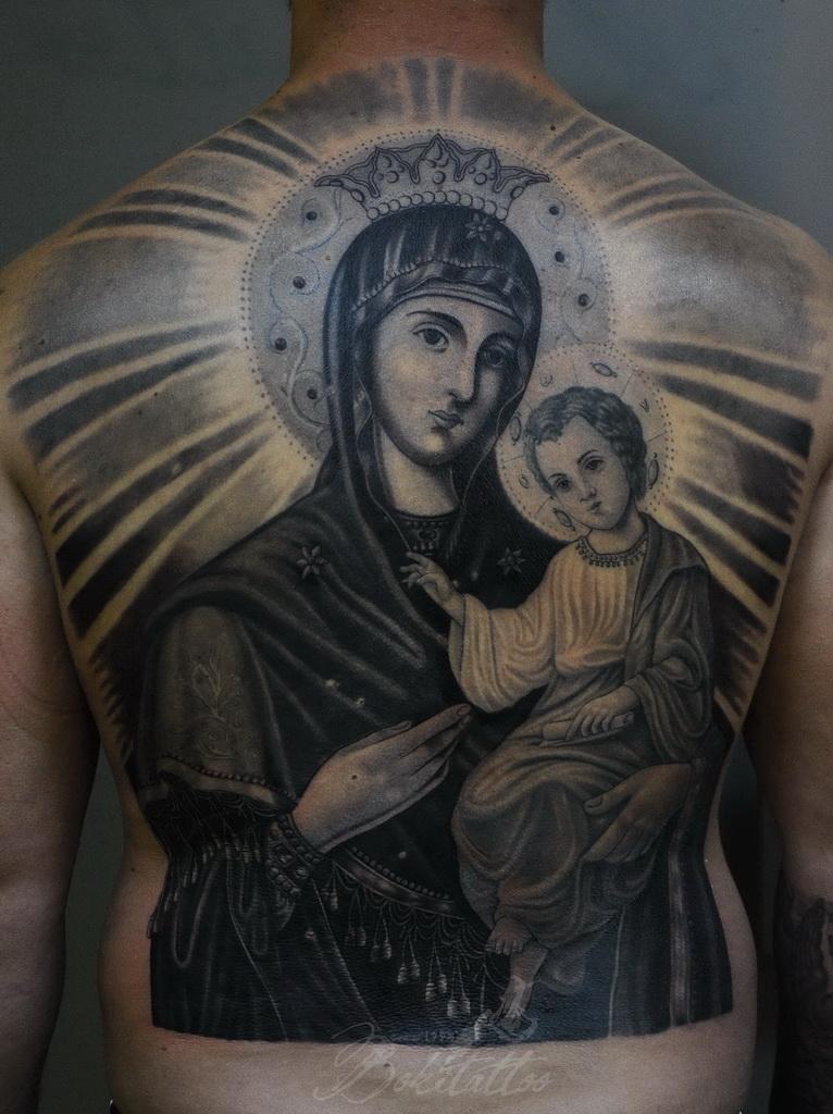orthodox virgin mary tattoo by bokitattoo on deviantart. Black Bedroom Furniture Sets. Home Design Ideas
