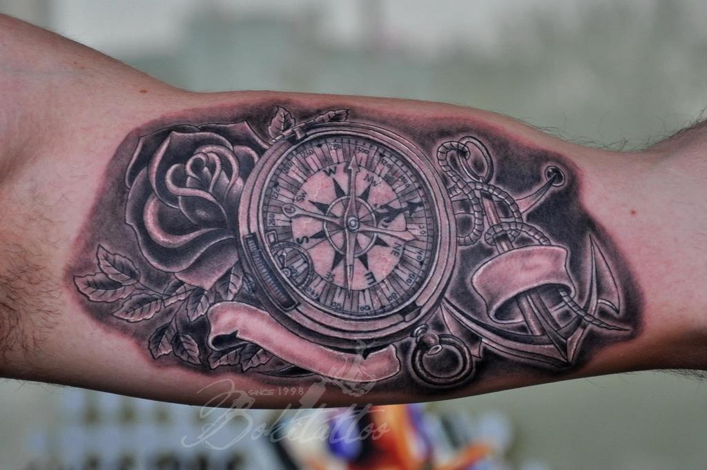 Preferência Compass and Anchor Tattoo by Bokitattoo on DeviantArt GX66