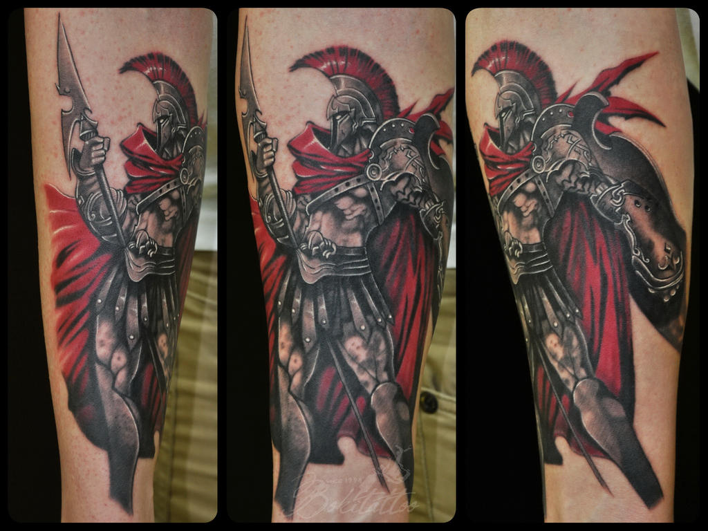 spartan warrior tattoo by bokitattoo on deviantart. Black Bedroom Furniture Sets. Home Design Ideas