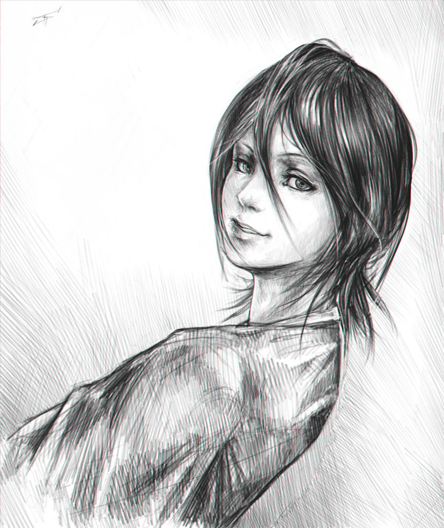Rukia's portrait by RomaniacC
