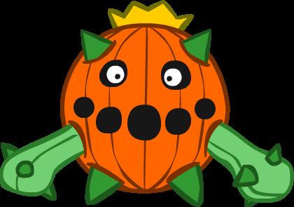 Pumpkin Cacnea by Kinneas64