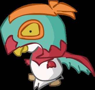 Hawlucha aka Rey Mysterio Bird by Kinneas64