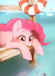 Pinkie Pie on the pier by Dagmell