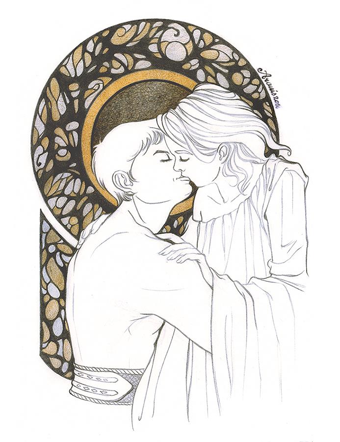 The kiss by Aramisdream