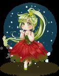 Waiting the first snow - Chibi Poinsettia
