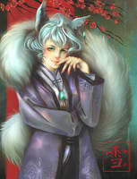 Yuki the Silver Fox by Aramisdream