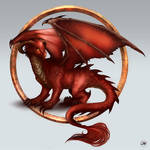 Commission: Alexandra the Red Dragon