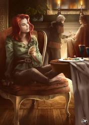 Trisha Yellow dining room scene
