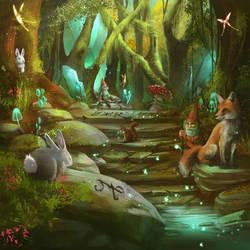 Magic Forest by Aramisdream