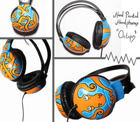 Hand Painted Headphones by MaxMason