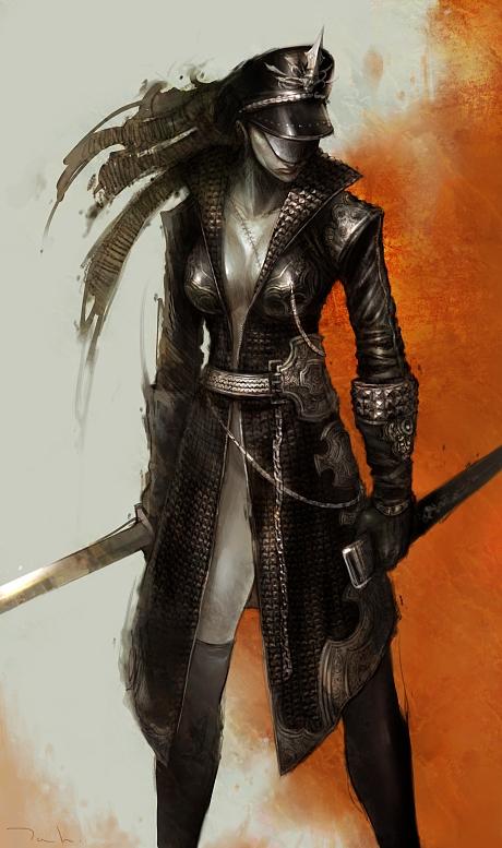 Galeria de Arte: Ficção & Fantasia 1 - Página 4 Sword_woman_by_tahra