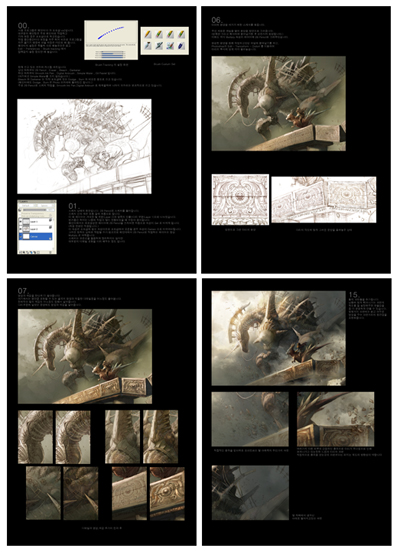 tutorial content in artbook by tahra