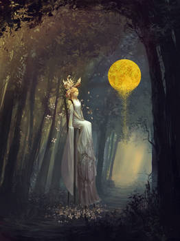 Bride in forest