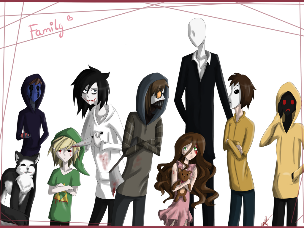 dat Creepypasta Family |+ Speedart by DarkThunderLuna