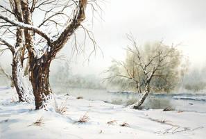 Brzeg-rzeki,zima