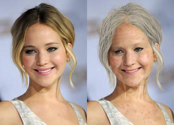 Elderly Jennifer Lawrence Split by Foolish-Water