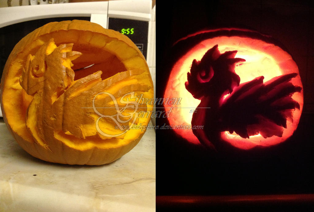 Pumpkin Dragon by clickybiro