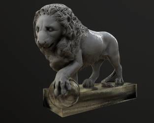 Lion statue by Stranger1988