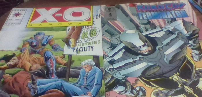 X-O Manowar and Robocop Vs, The Terminator comics