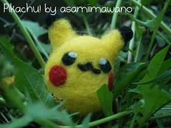 Pikachu! Felted by asamiimawano by asamiimawano