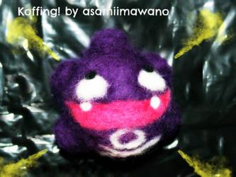 Koffing!  Felted by asamiimawano by asamiimawano