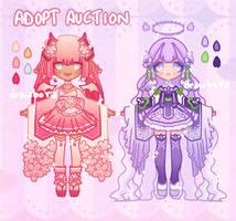AUCTION-ADOPTABLES 04 [OPEN] FLOWER DEMON/ANGEL by drawbora