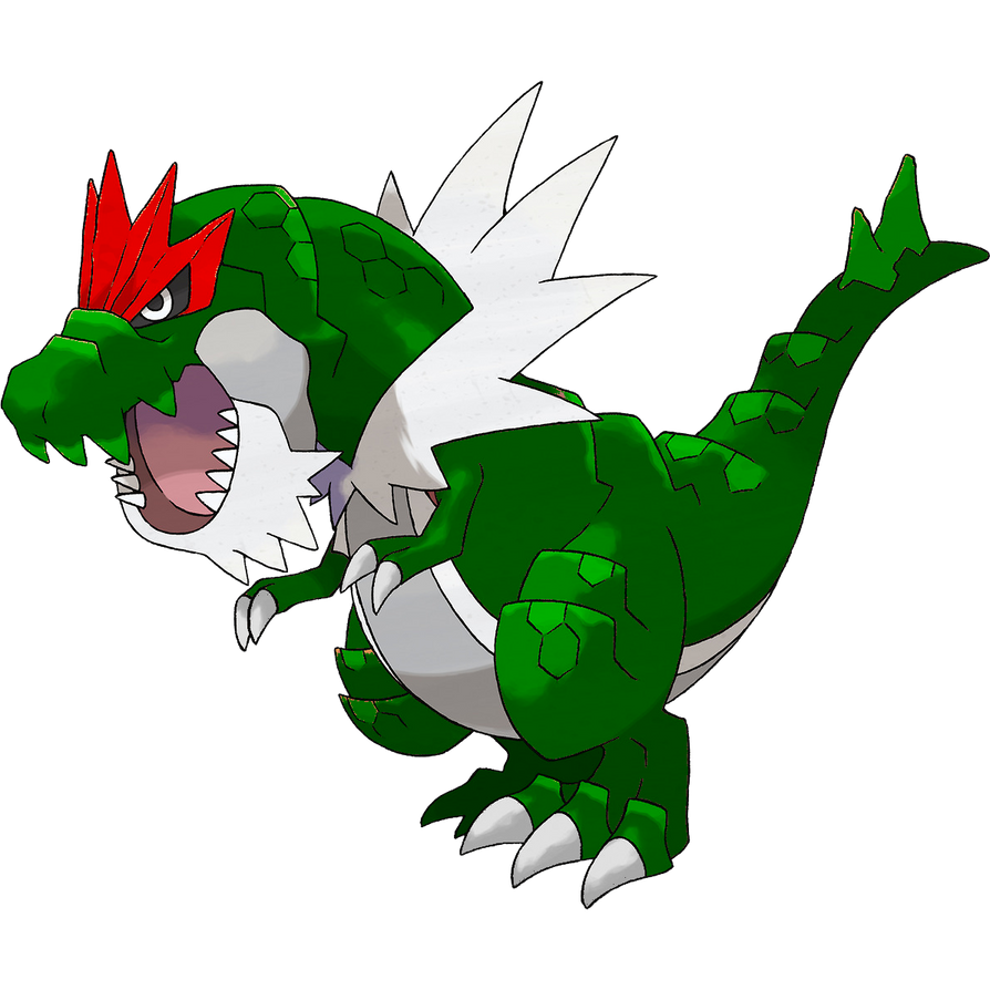 Pokemon Recolor #1 - Tyrantrum with Yoshi\'s color by MasamuneMarth ...