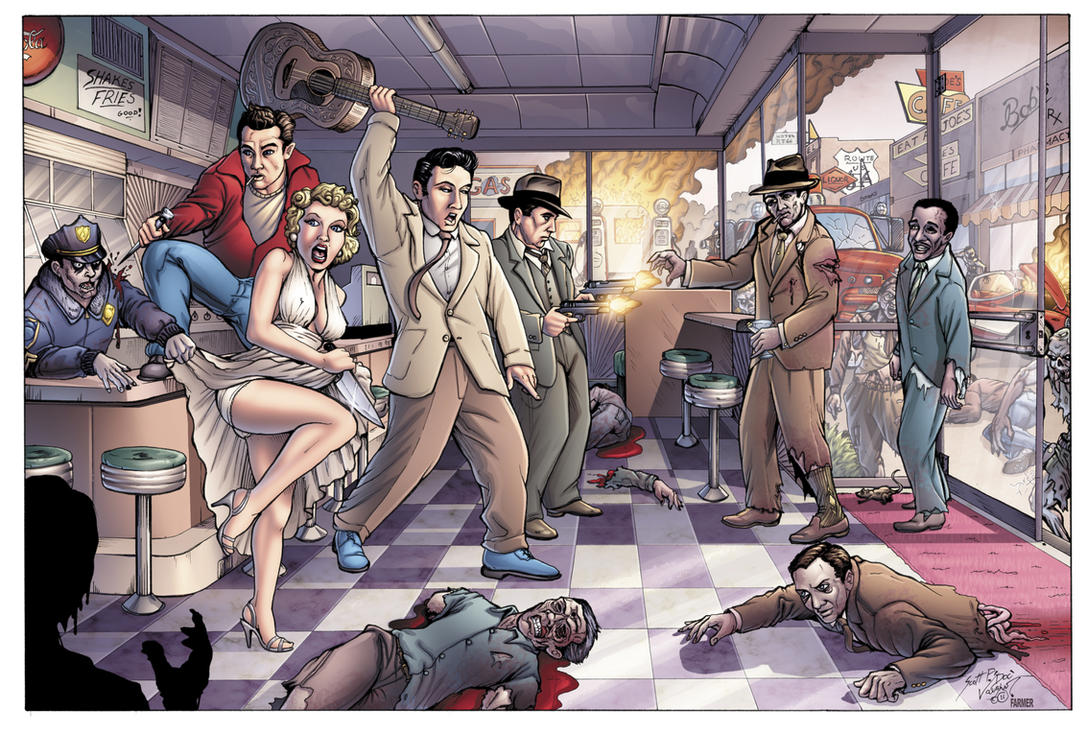 Zombie Apocalypse 1955 by DocRedfield
