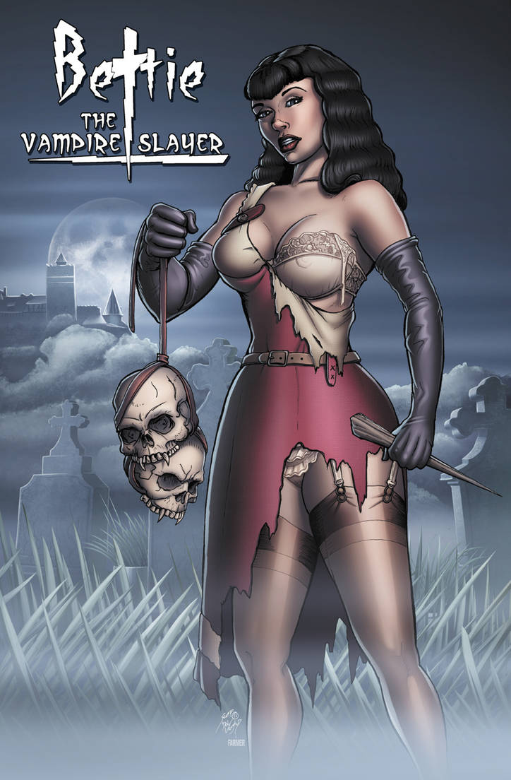 Bettie the Vampire Slayer -collab by DocRedfield