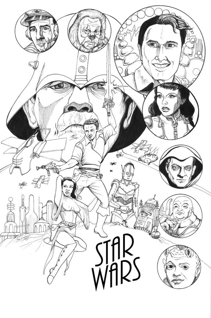 STAR WARS 1938 - inks by DocRedfield