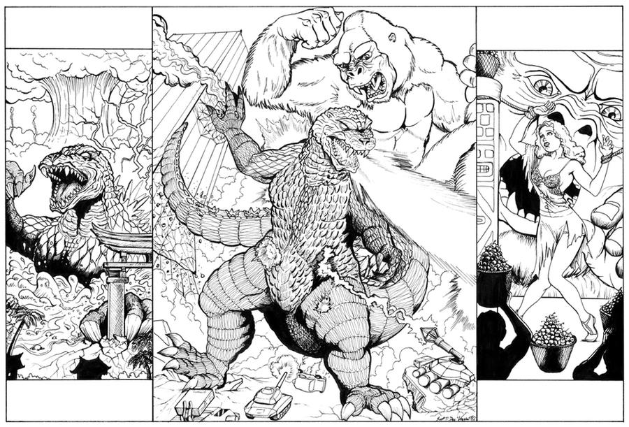 Good Godzilla Coloring Pages With Page