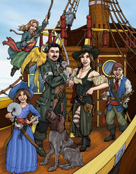 Pirate Family - Commission by DocRedfield