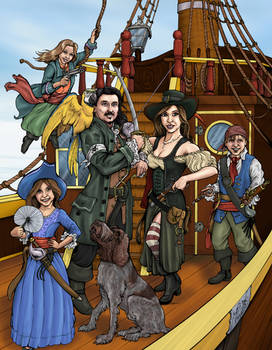 Pirate Family - Commission