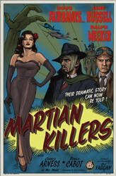 MARTIAN KILLERS - 1950-style Poster by DocRedfield