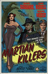 MARTIAN KILLERS - 1950-style Poster