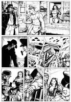 WARBIRDS OF MARS Golden Age Pg4 Inks by DocRedfield