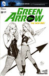 GREEN ARROW #28 Sketch Cover
