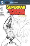 Superman-WonderWoman no1 Sketch Cover
