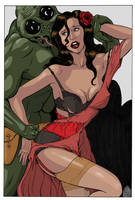 WARBIRDS OF MARS - Josie Martian Pinup by DocRedfield