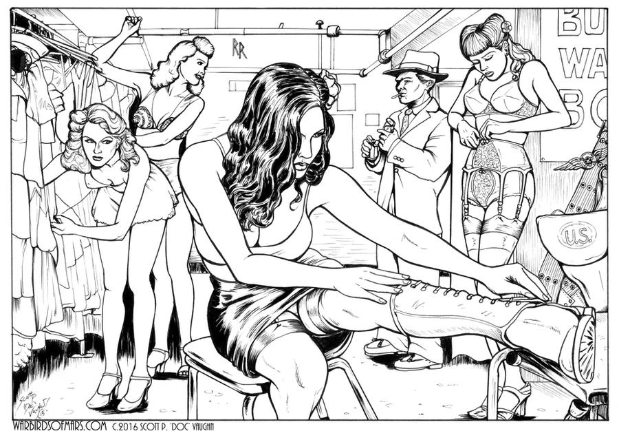 Warbirds of Mars 50-1 Inks by DocRedfield