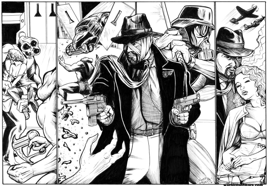 Warbirds of Mars Page50-3 Hunter and Mask by DocRedfield