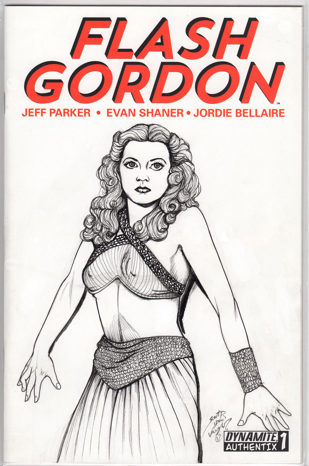 Flash Gordon Sketch Cover by DocRedfield