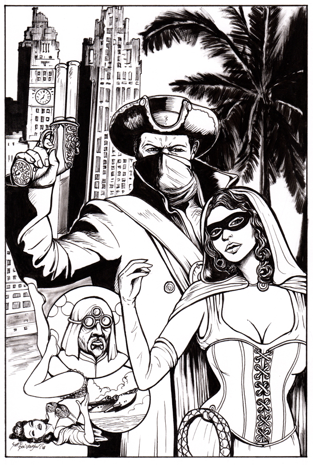 Crimson Cutlass Cover INKS by DocRedfield