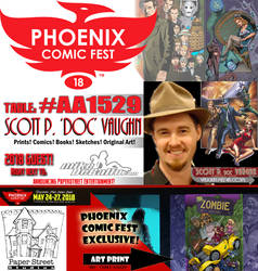 Phoenix Comic Fest 2018 by DocRedfield