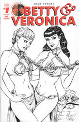 Betty and Veronica Sketch Cover by DocRedfield